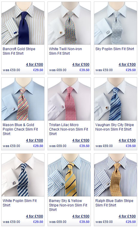 Slim fit shirts at CT